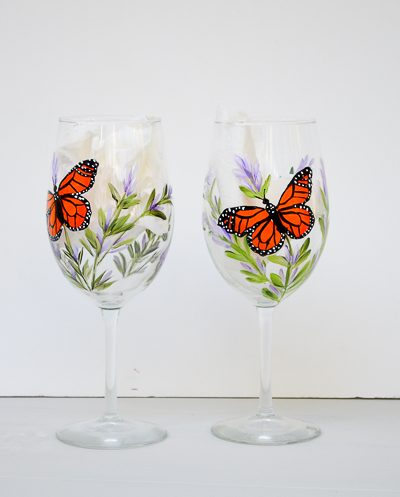 Paint Lavender and Monarchs on Glass Workshop is Ready!