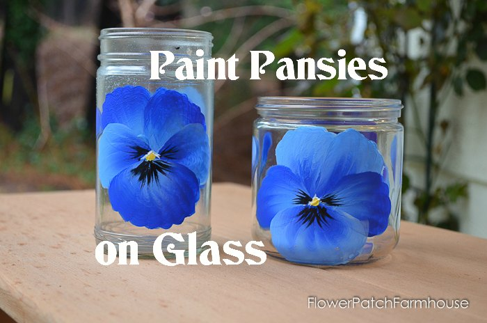 How To Paint Pansies On Glass Pamela Groppe Art