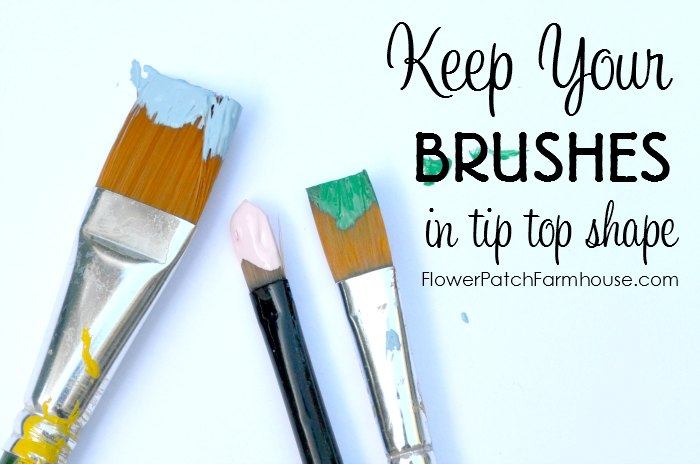 Basic Paint Brush Care, keeping your brushes in tip top shape it imperative for good stroke work in painting. Here is how I make my brushes last as long as possible with basic brush care.
