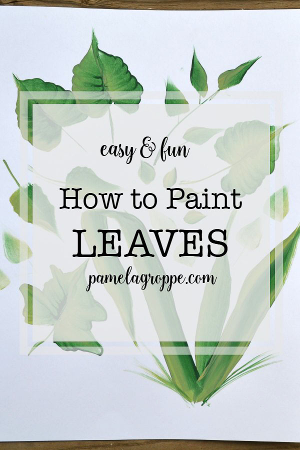 How to Paint Leaves in Acrylics, an easy, beginner painting tutorial to paint leaves in acrylics one stroke at a time. #canvasart #diydecor #crafts #painting #paintparty #art
