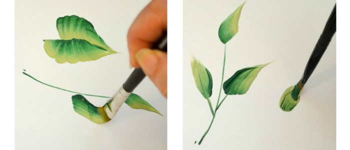 How to Paint Leaves