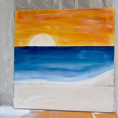Paint a Sunset Beach Scene