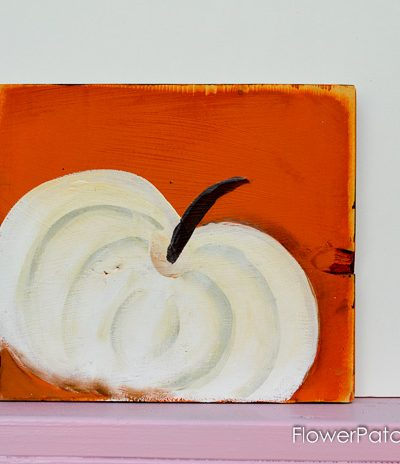 How to Paint a White Pumpkin