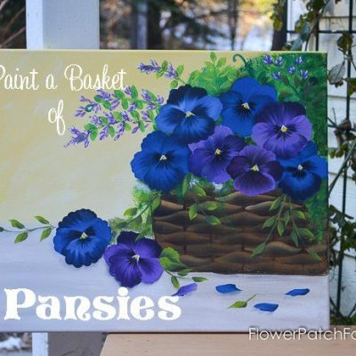 Paint a Basket of Pansies on Canvas
