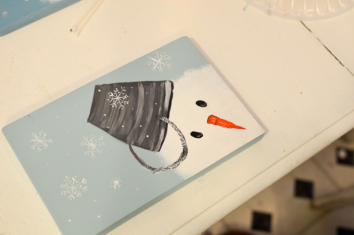 Let's paint a Snowman, easy beginner tutorial on how to paint a snowman in acrylics