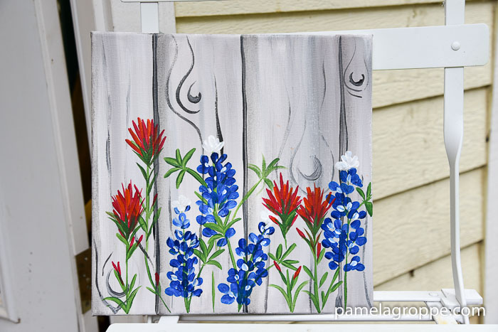 How to Paint Indian paintbrush one stroke at a time. Easy beginner painting tutorial!