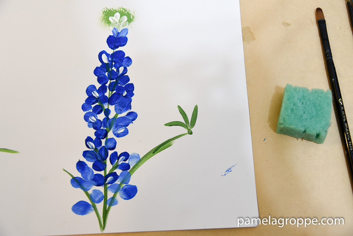 Paint Texas Bluebonnets, an easy painting tutorial for these fabulous flowers of Spring. Easy enough for beginners.