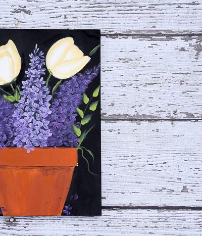 How to Paint Lilacs and Tulips