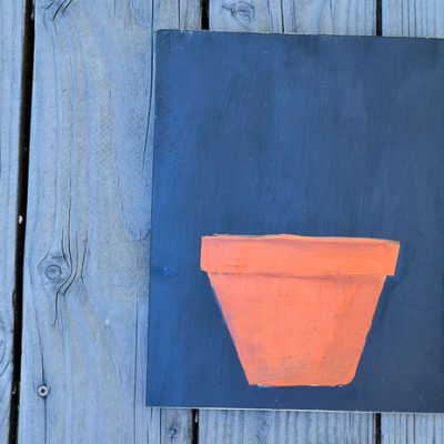 Paint a Terra Cotta Pot in Acrylics