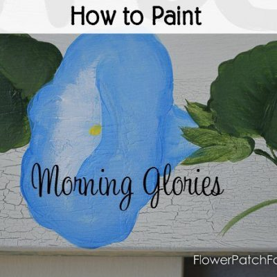 Paint Morning Glories
