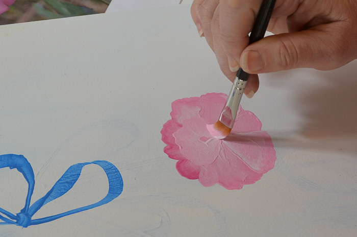Learn How to Paint the Back of a Rose on stroke at a time. Easy enough for beginners and fun for everyone.
