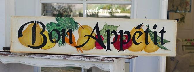 Bon appetit hand painted sign
