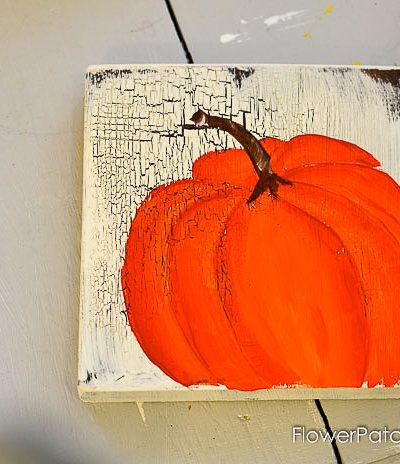 Paint Orange Pumpkins in Acrylics