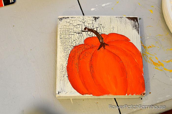 Paint Orange Pumpkins in Acrylics