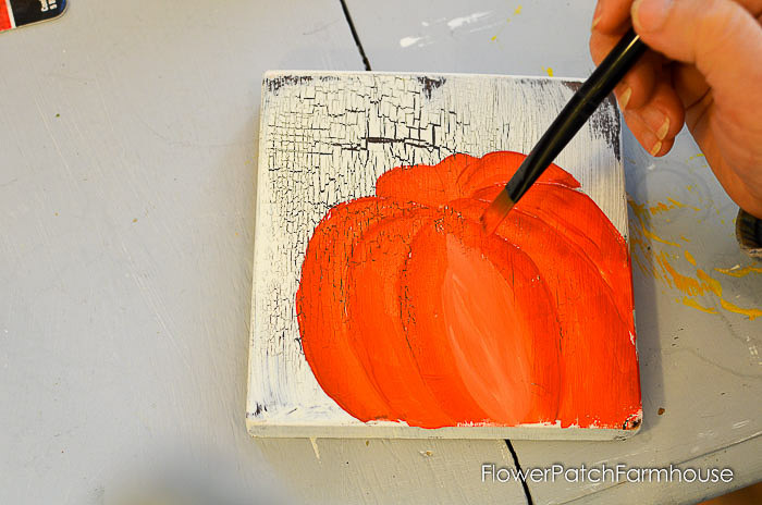 Center of pumpkin with highlight added