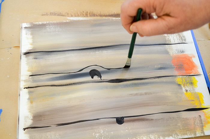 how to paint faux wood grain tutorial add details