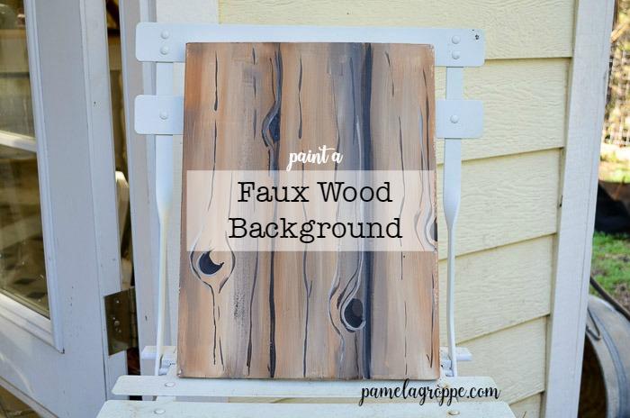 Paint Faux Wood Grain in Acrylics