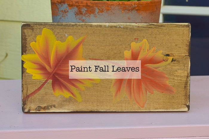 Paint Fall Leaves