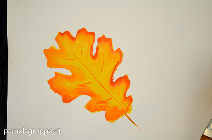 Add veins to leaf, How to Paint Oak Leaves