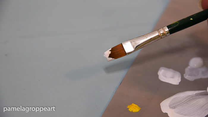 paint brush double loaded,How to Paint a Simple Daisy