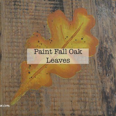 Paint Fall Oak Leaves in acrylics