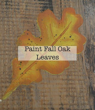 Paint Fall Oak Leaves in acrylics