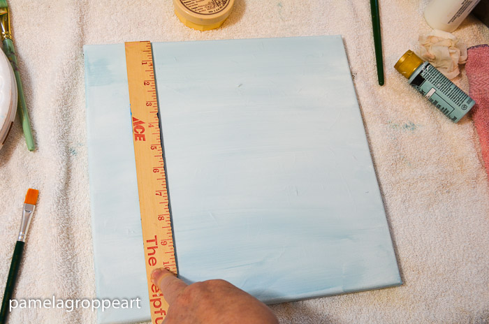ruler to line up sides of tree, How to Paint an Aspen