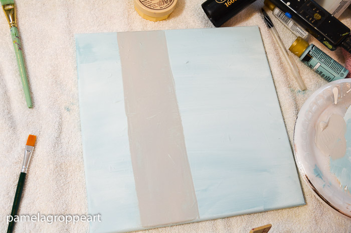 Background of Aspen tree painted in, How to Paint an Aspen tree