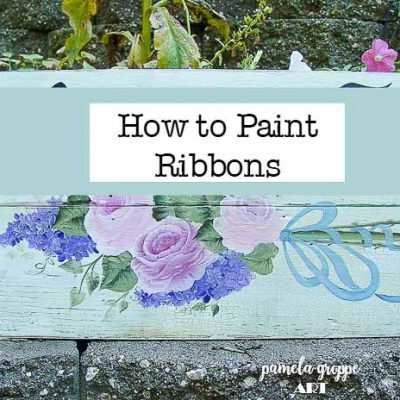Painting roses bouquet with ribbons, How to Paint Ribbons.