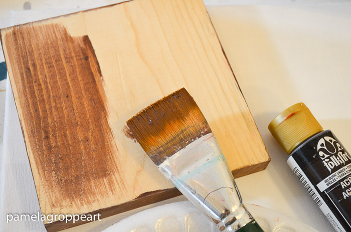 And That Is How I Stain Wood With Acrylic Paint