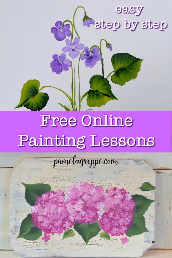 Easy Free Online Painting Lessons & Tutorials - Pamela ...