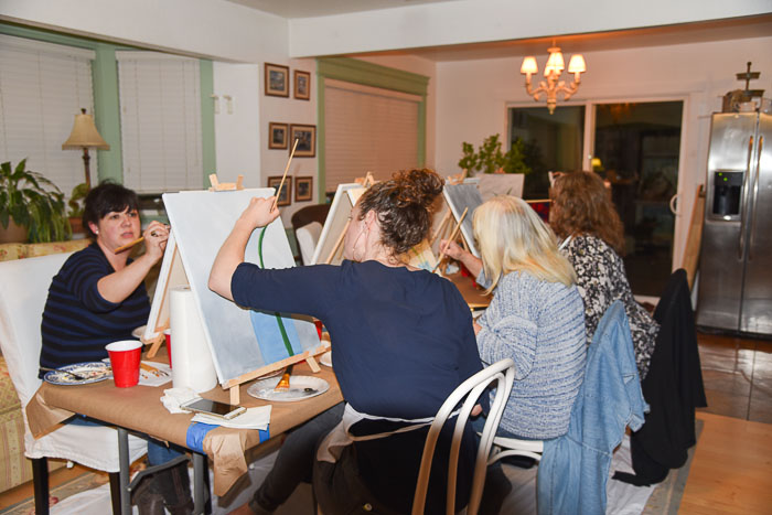 Paint party at pamela groppe art