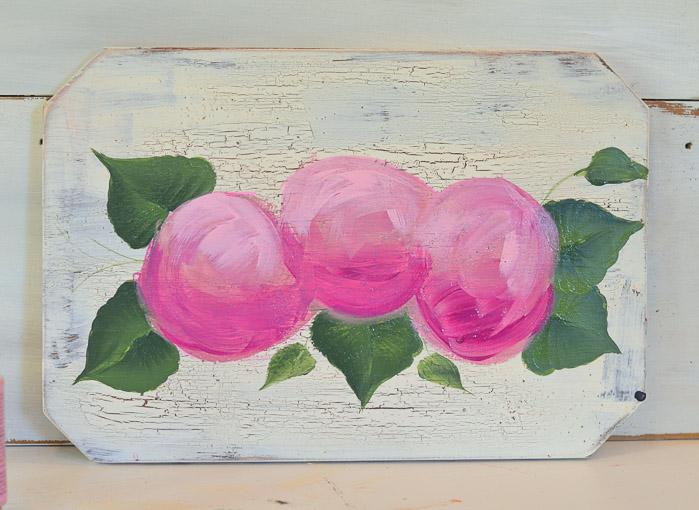 Base painting of hydrangeas