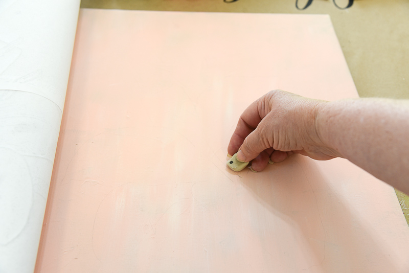 erase dark lines when you transfer painting patterns